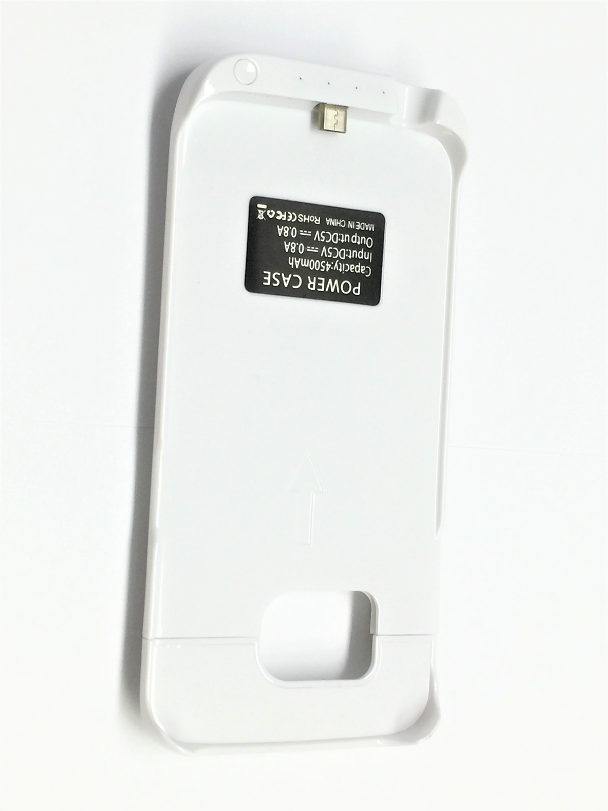 low priced 76d0a 91a89 External battery power case for Samsumg Galaxy S6 Edge back up cover white